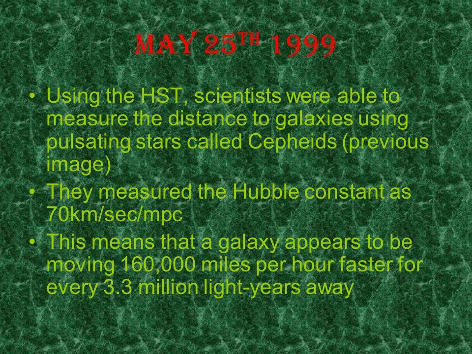 Hubble Space Telescope solves it !