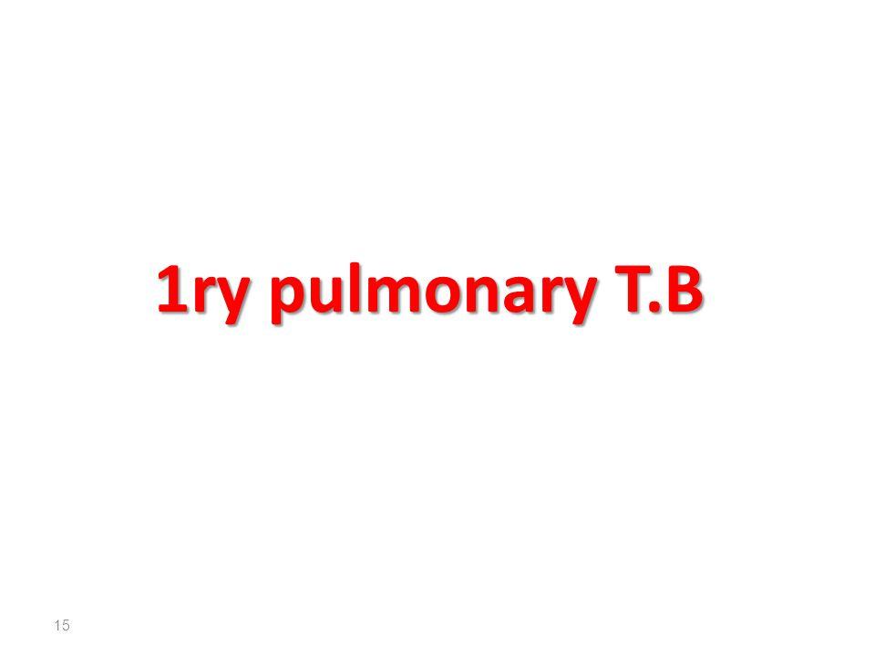 1ry pulmonary T.B 15