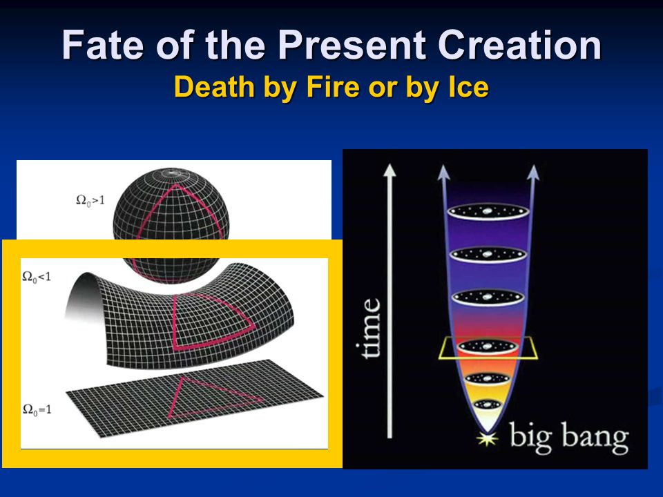 Fate of the Present Creation Death by Fire or by Ice