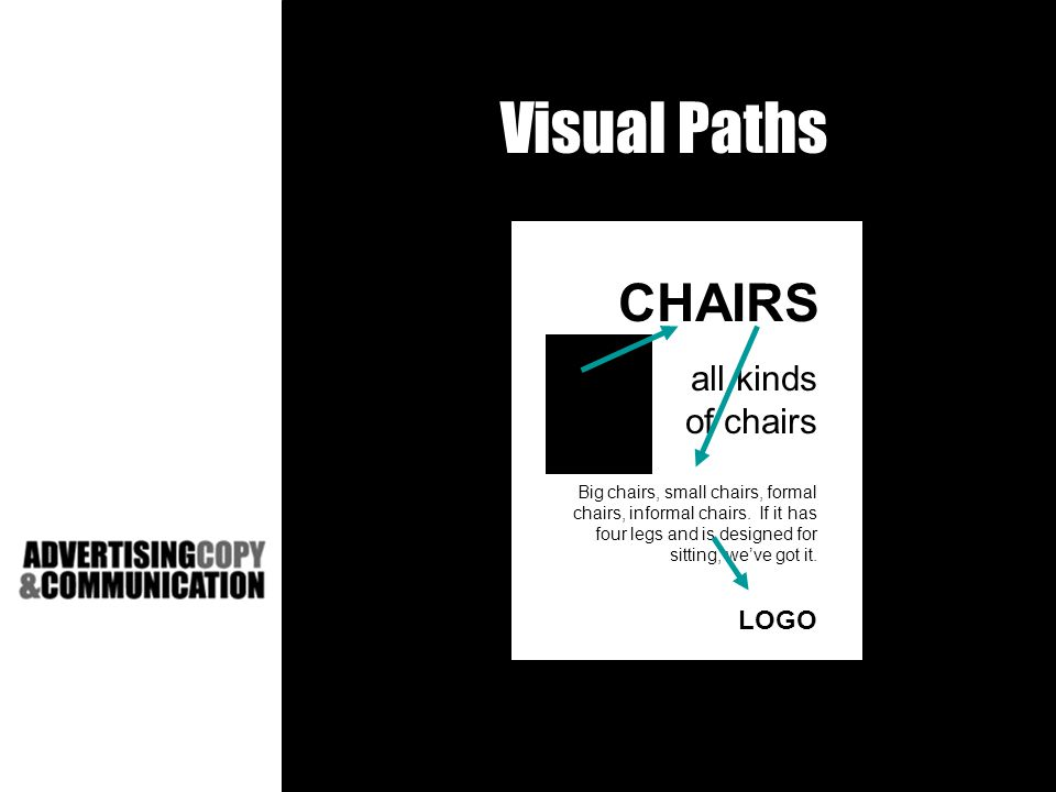 Visual Paths CHAIRS all kinds of chairs Big chairs, small chairs, formal chairs, informal chairs.