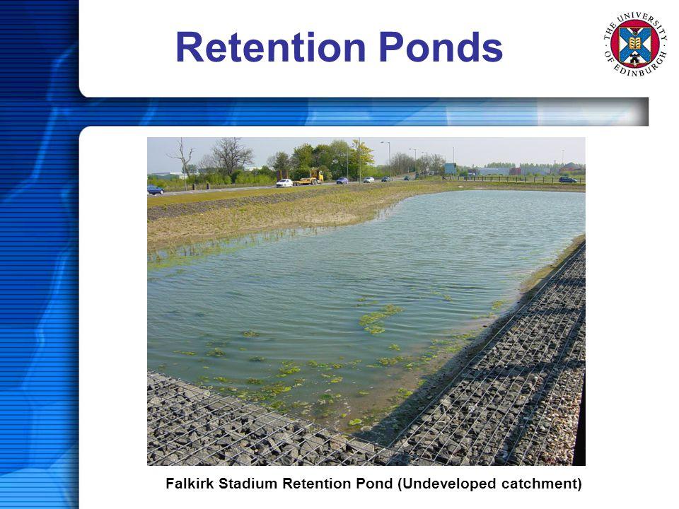 Retention Ponds Falkirk Stadium Retention Pond (Undeveloped catchment)