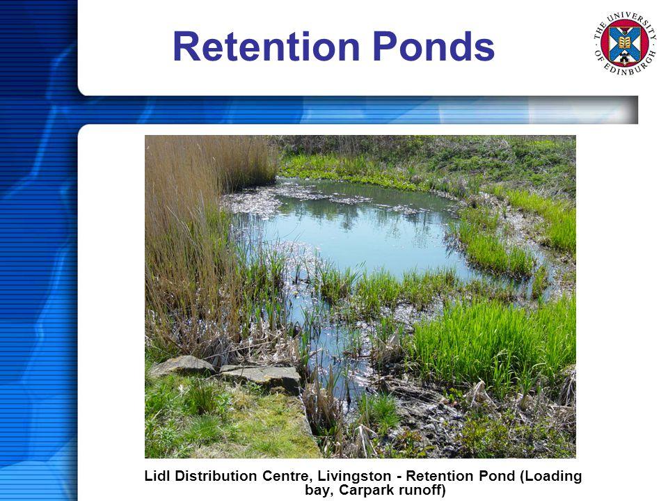 Retention Ponds Lidl Distribution Centre, Livingston - Retention Pond (Loading bay, Carpark runoff)