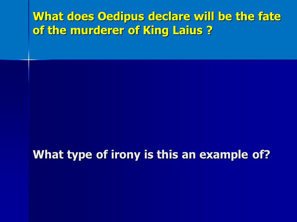 dramatic irony in oedipus rex essays