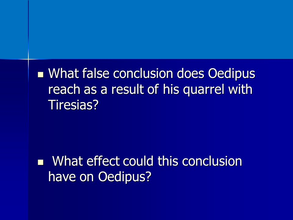 What role does the first senator play in the quarrel between Creon and Oedipus.