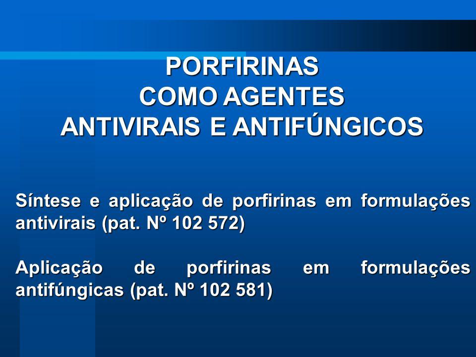 PORFIRINAS COMO AGENTES ANTIVIRAIS E ANTIFÚNGICOS Síntese e aplicação de porfirinas em formulações antivirais (pat. Nº 102 572) Aplicação de porfirina