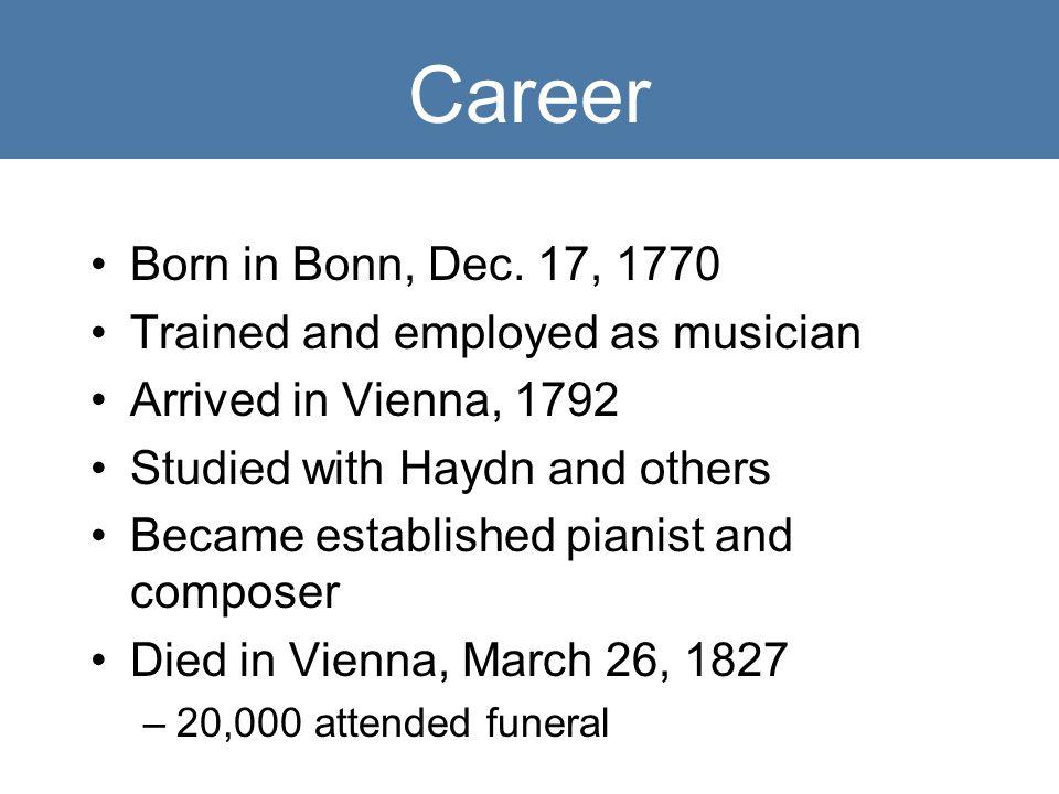 Career Born in Bonn, Dec.