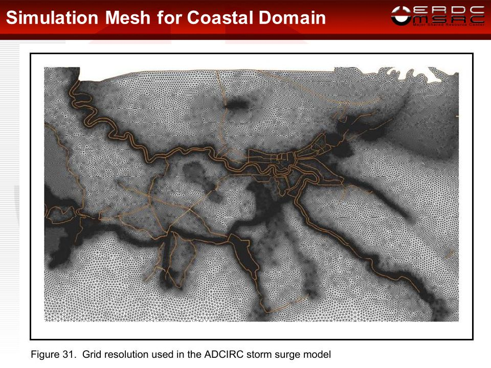 Simulation Mesh for Coastal Domain