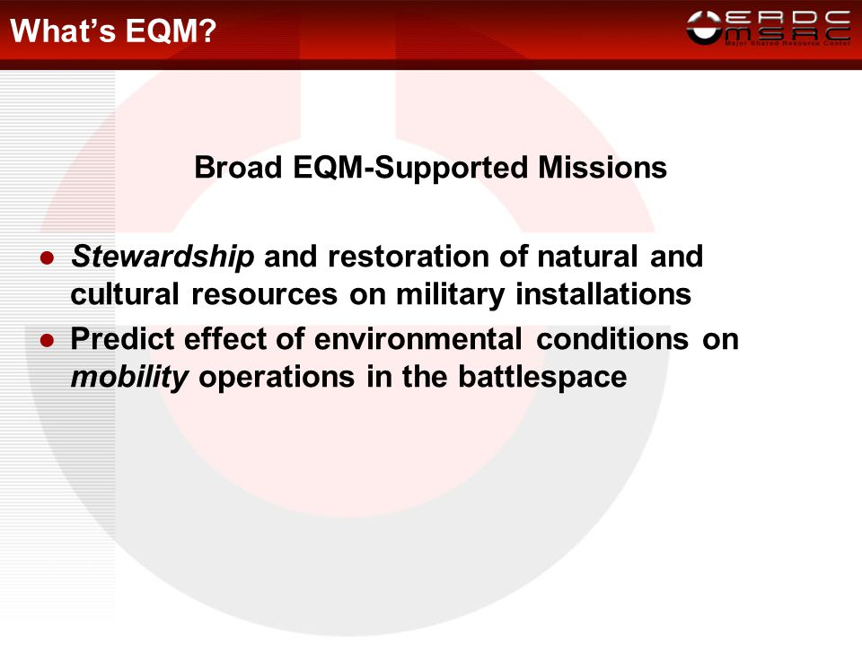 EQM Computational Technology Area CFD CWO CCM EQM