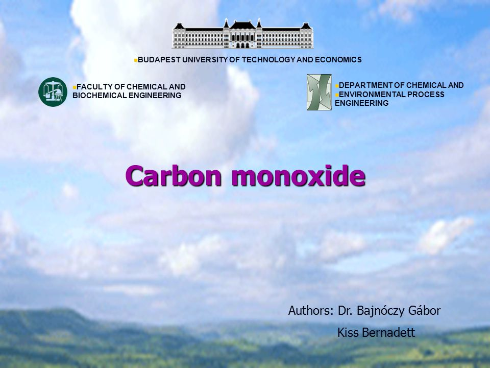 Carbon monoxide Authors: Dr.