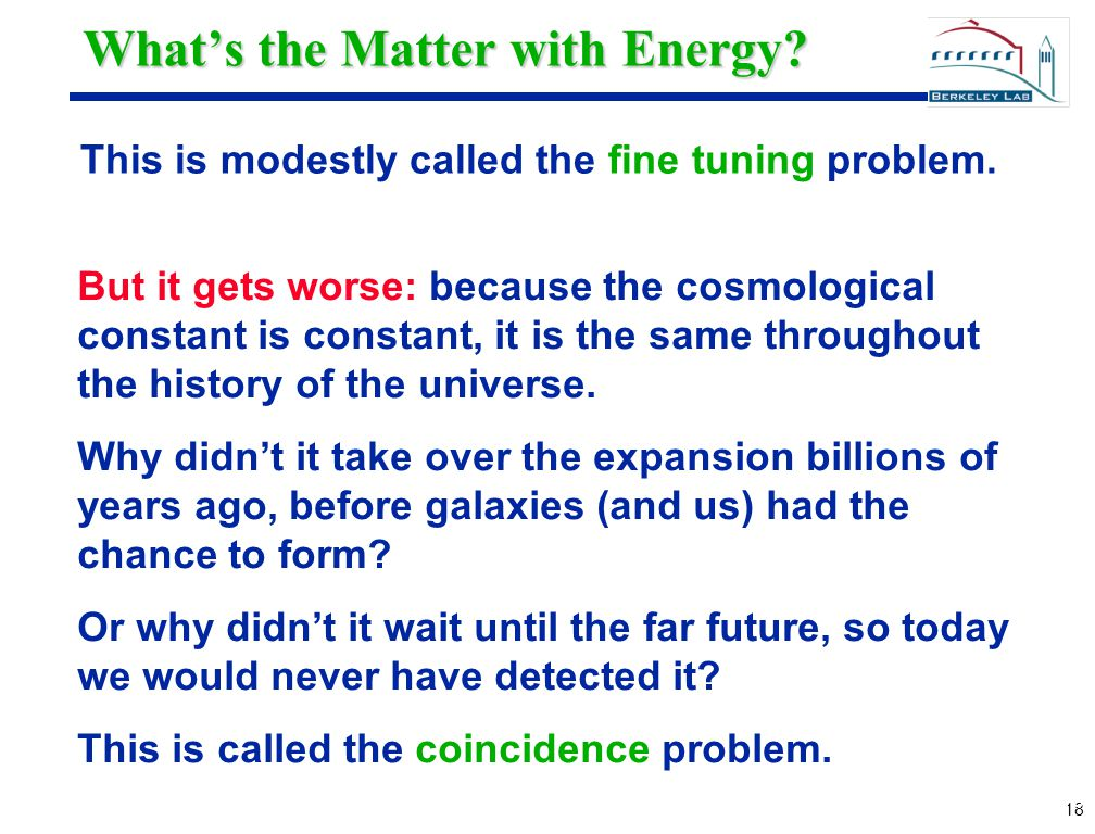 18 What's the Matter with Energy.