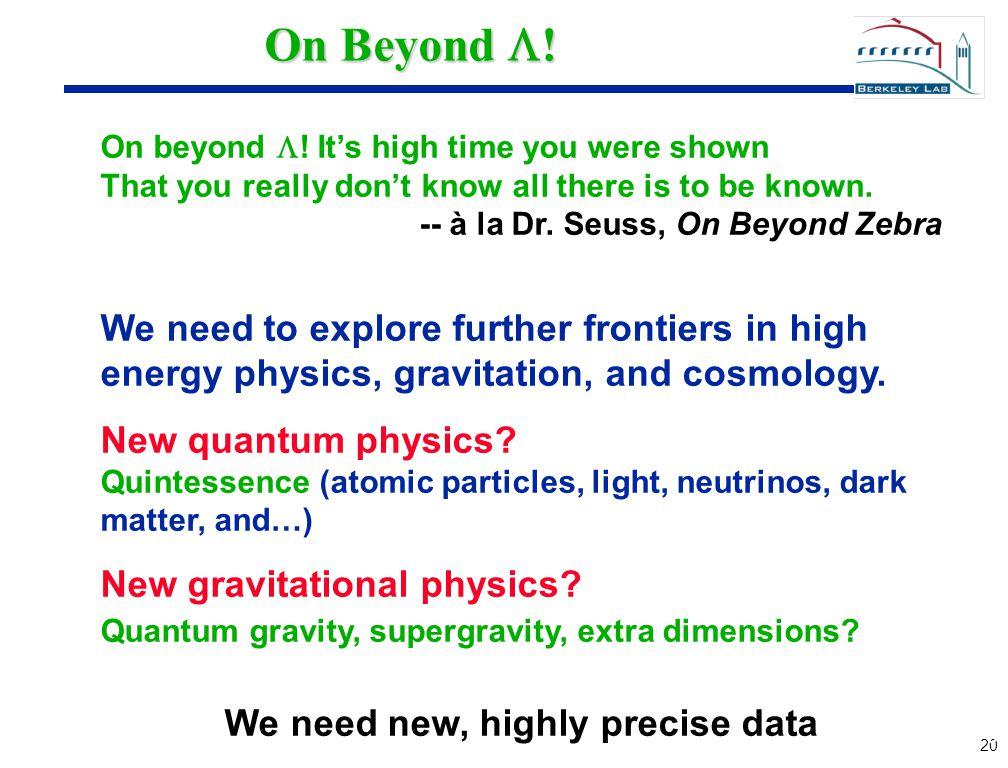 20 On Beyond  . On beyond  .