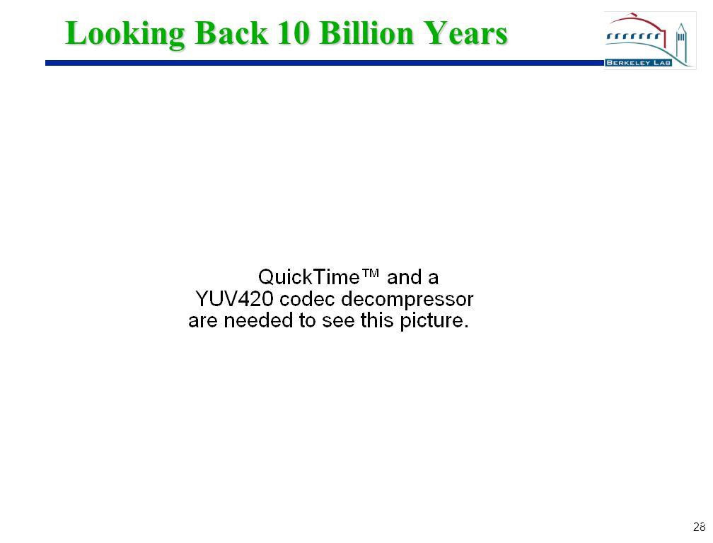 28 Looking Back 10 Billion Years