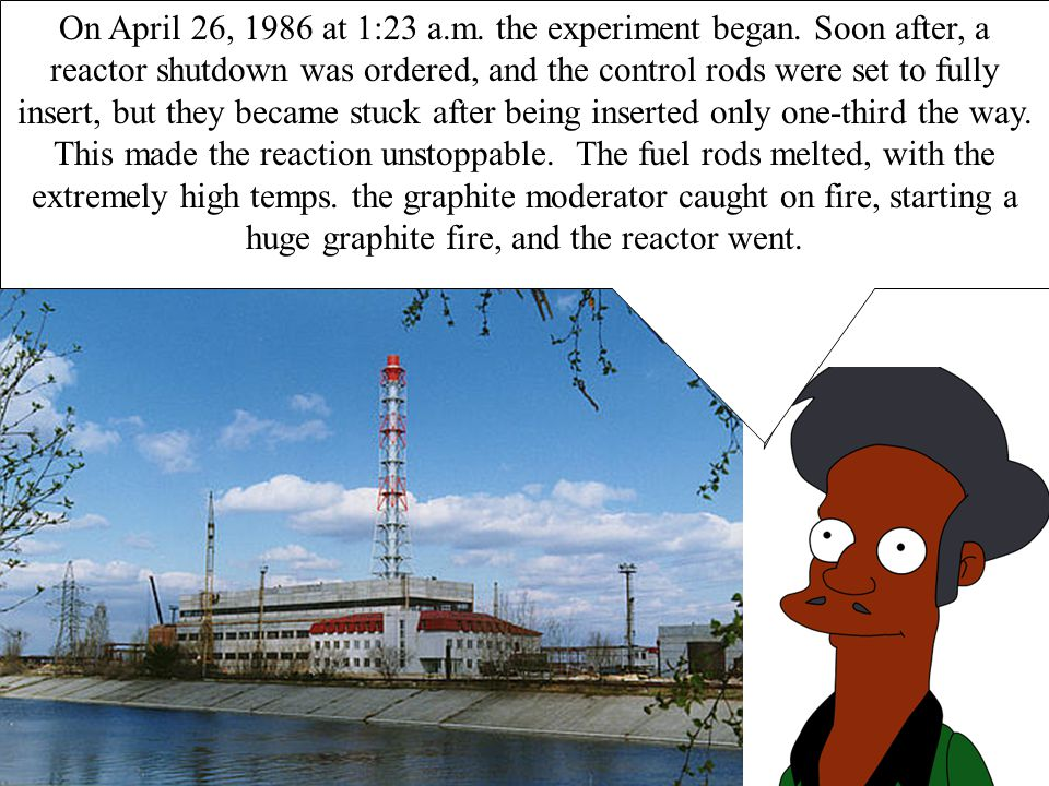 Welcome to the Chernobyl Power Plant.On April 26, 1986 at 1:23 a.m.