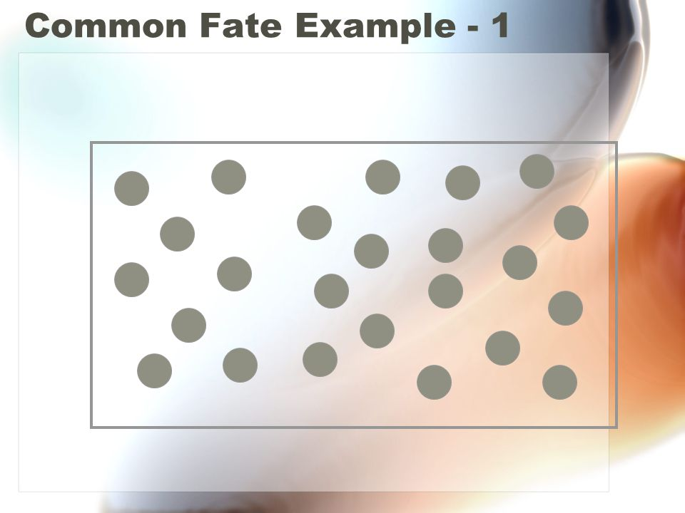 Common Fate Example - 1
