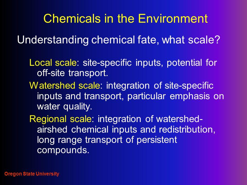 Oregon State University Pesticide degradation half-life No of ½ lives % amount remaining 3.310 6.61 100.1