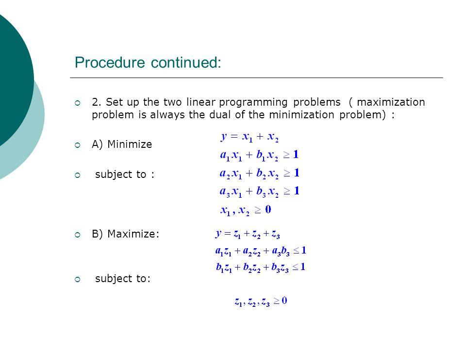 Procedure continued:  Step 3.