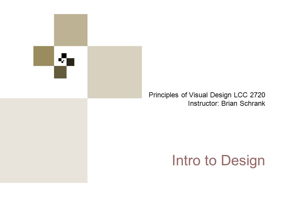 Principles of Visual Design 2720 nudge… nudge… nudge… Repetition + Alignment