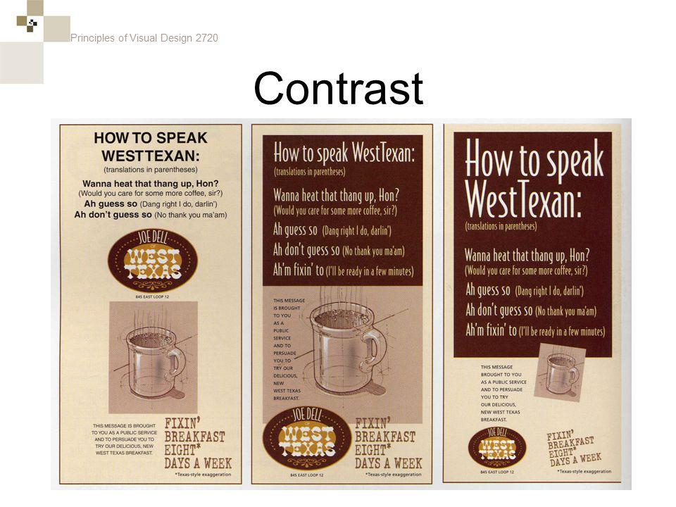 Principles of Visual Design 2720 Contrast