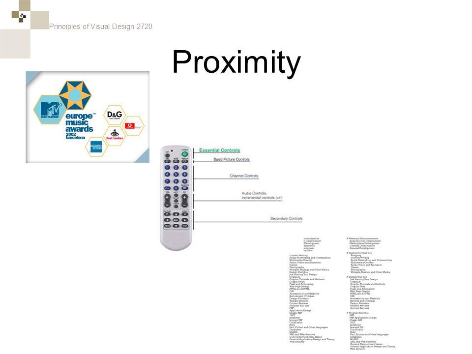 Principles of Visual Design 2720 Proximity