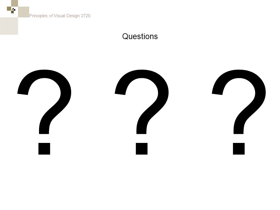 Principles of Visual Design 2720 Questions
