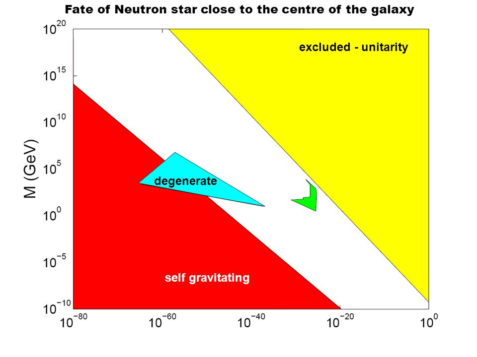 Fate of Neutron star close to the centre of the galaxy excluded - unitarity self gravitating degenerate