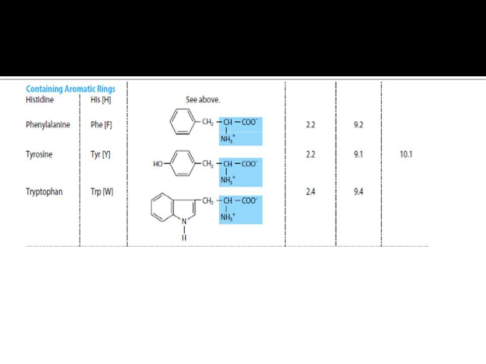 b)Aromatic amino acids;