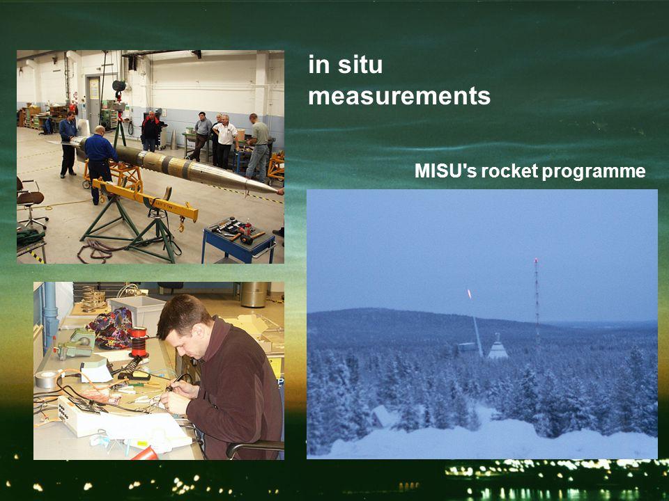 in situ measurements MISU s rocket programme