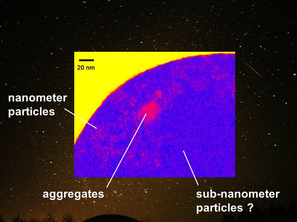 nanometer particles aggregatessub-nanometer particles ?