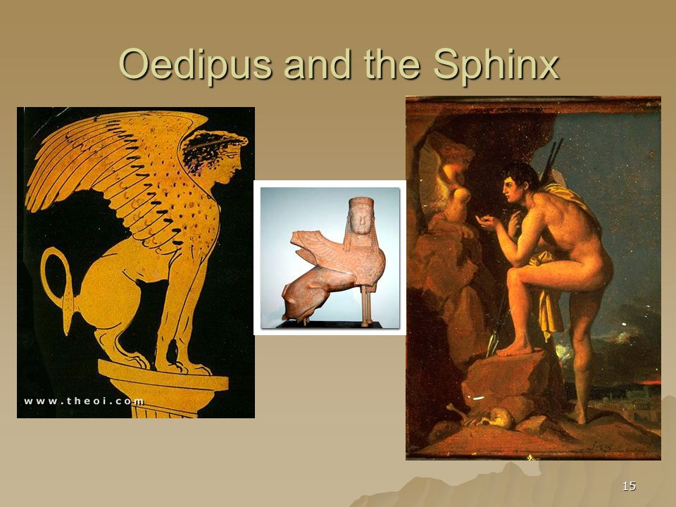 15 Oedipus and the Sphinx