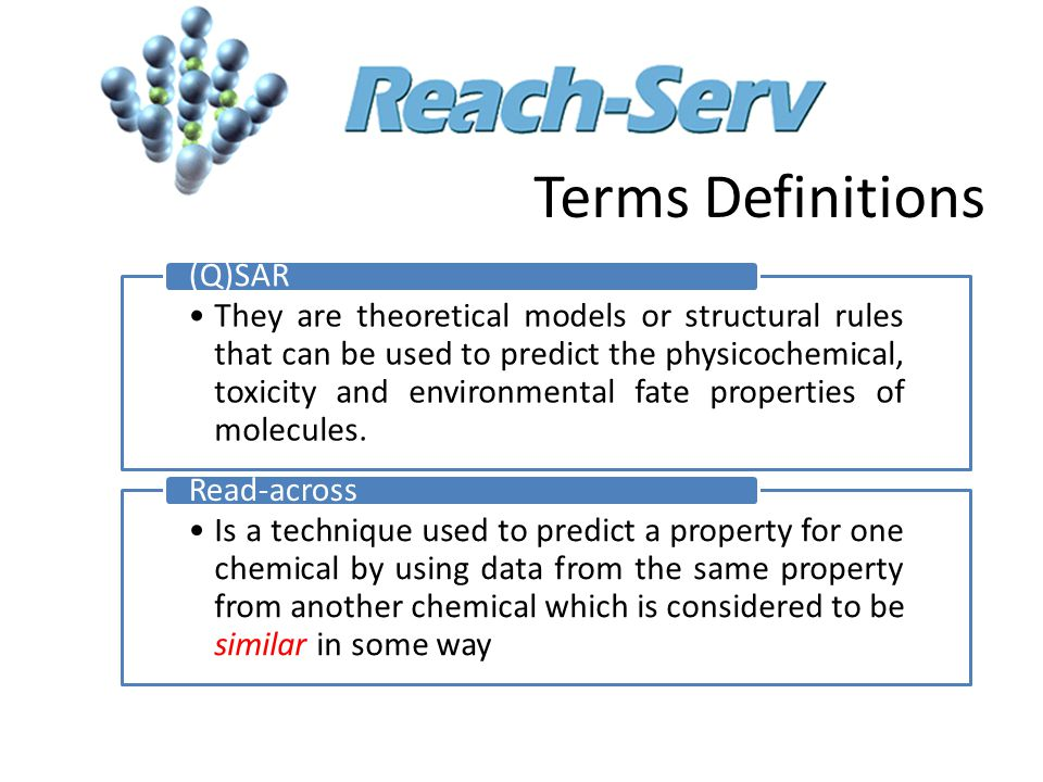 They are theoretical models or structural rules that can be used to predict the physicochemical, toxicity and environmental fate properties of molecules.