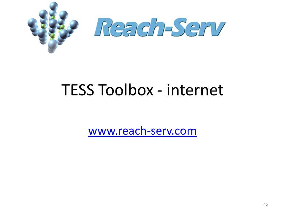TESS Toolbox - internet 45 www.reach-serv.com