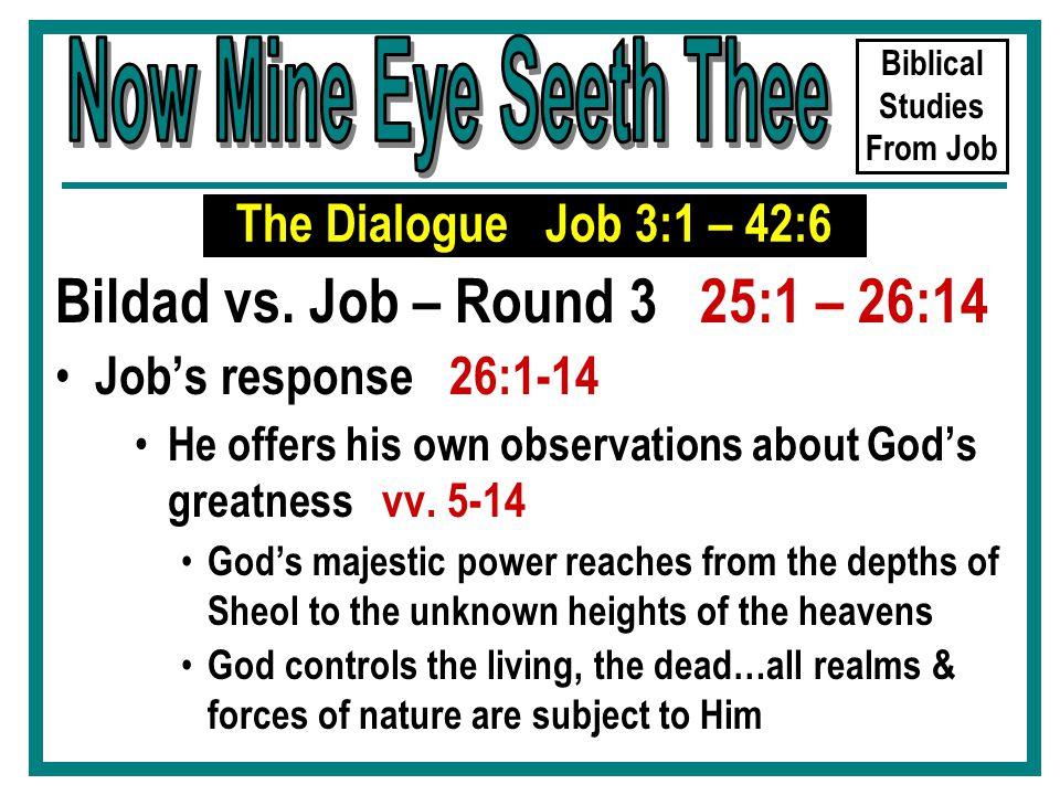 Biblical Studies From Job