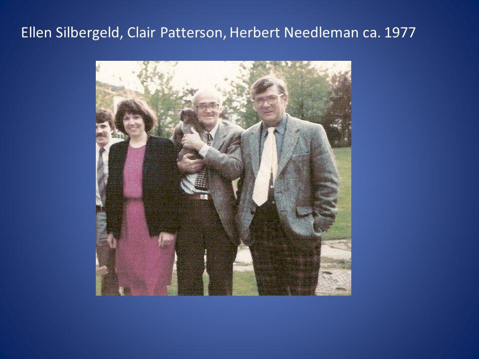 Ellen Silbergeld, Clair Patterson, Herbert Needleman ca. 1977