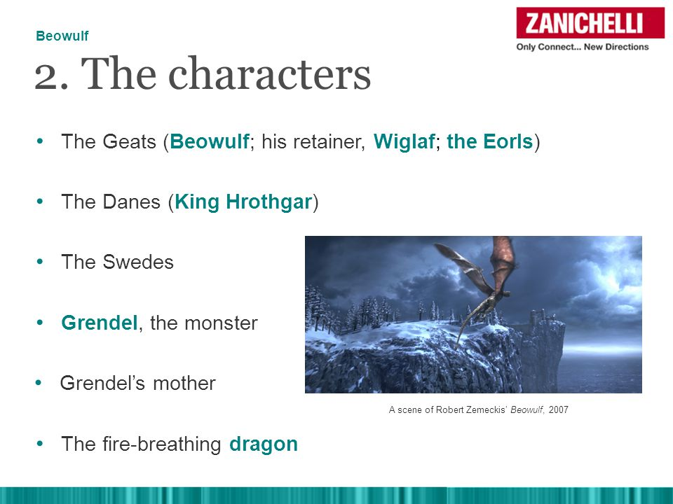 The Geats (Beowulf; his retainer, Wiglaf; the Eorls) 2.