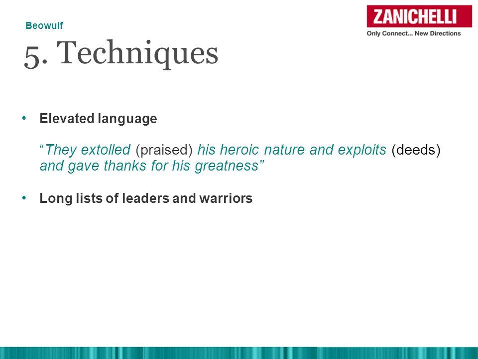 Elevated language 5.