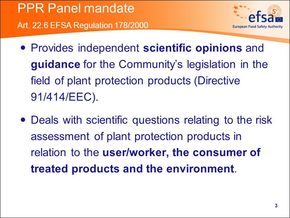 3 PPR Panel mandate Art.