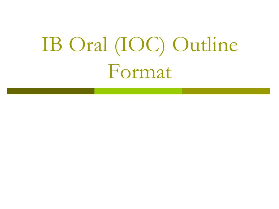 IB Orals  PART I: Initial Reading (6-7 min) Color mark and annotate as you go  PART II: Idea Generation (7-8 min) Read the two guiding questions and consider what they are asking; they are meant to stimulate your thinking.