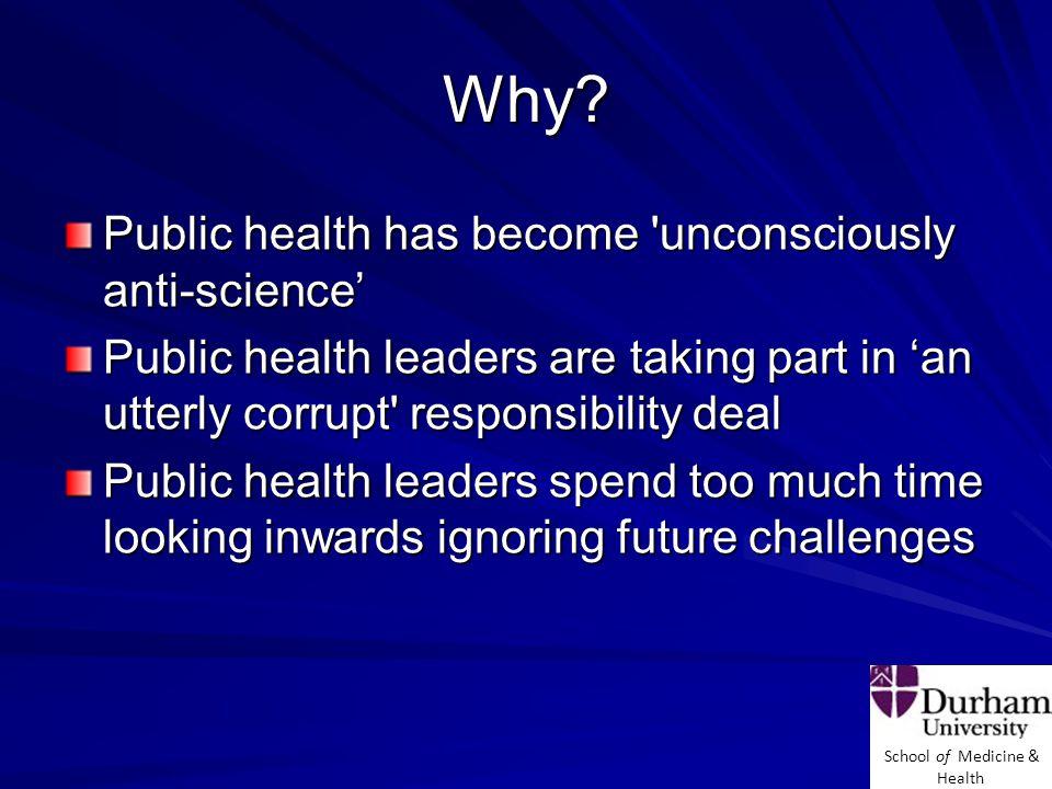 School of Medicine & Health Why.