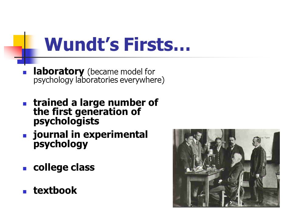 Wundt's Written Works First to use term experimental psychology Offered proper methods for psychology Six editions of textbook Discussed problems that were the focus of psychology research for years Examples: reaction time and psychophysics The Founding of Psychology