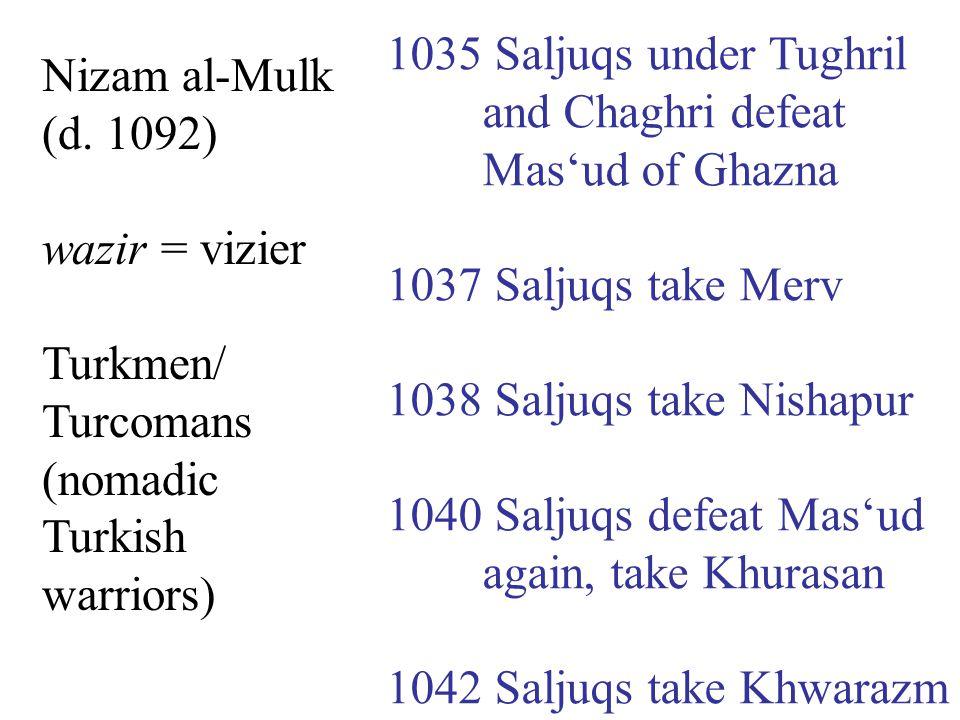 Nizam al-Mulk (d.