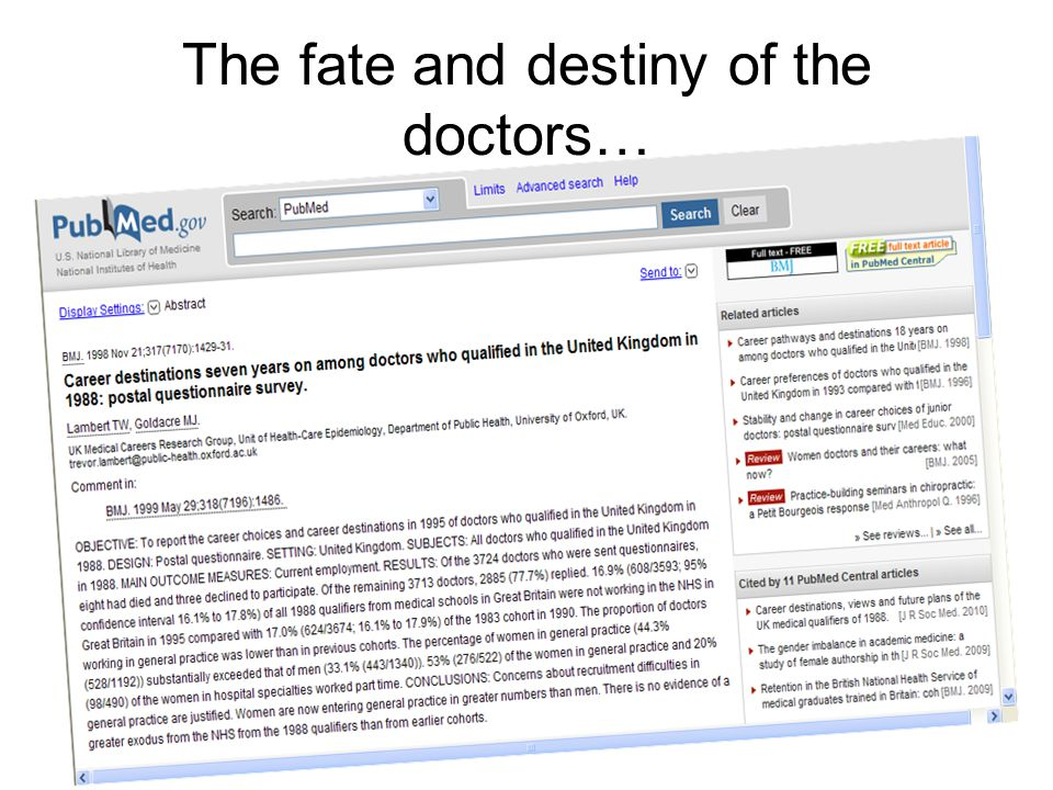 The fate and destiny of the doctors…