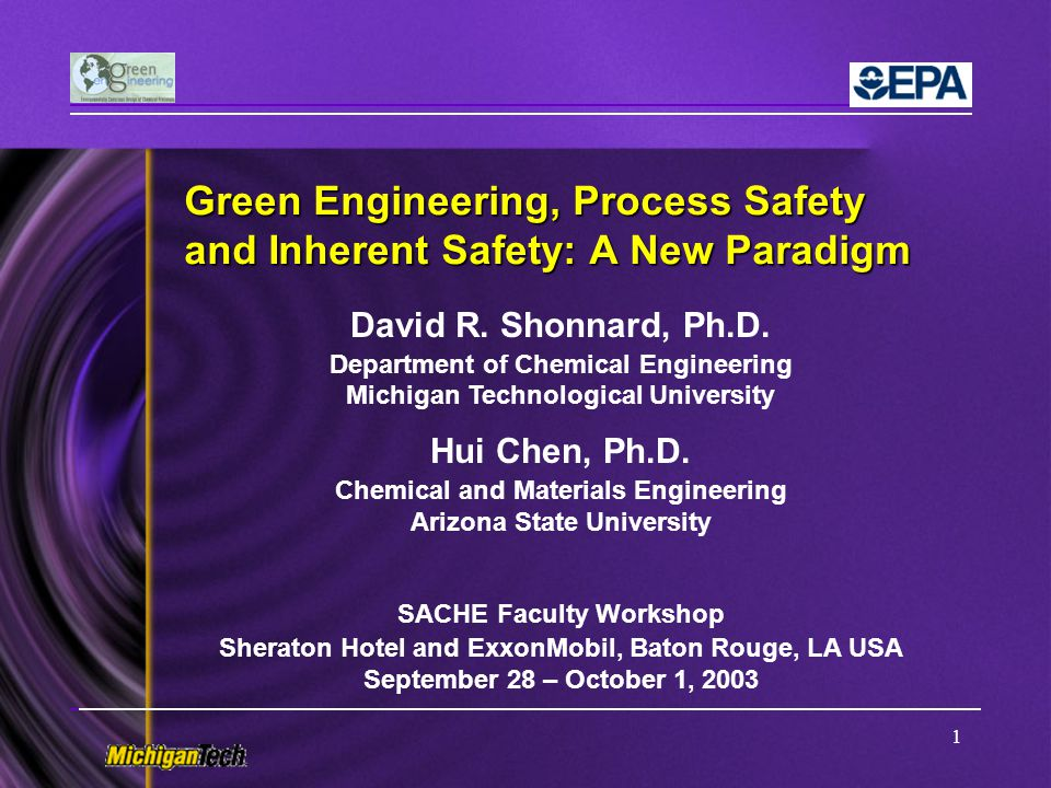 12 Principles of Green Engineering The Sandestin GE Principles 1.Engineer processes and products holistically, use systems analysis, and integrate environmental impact assessment tools.