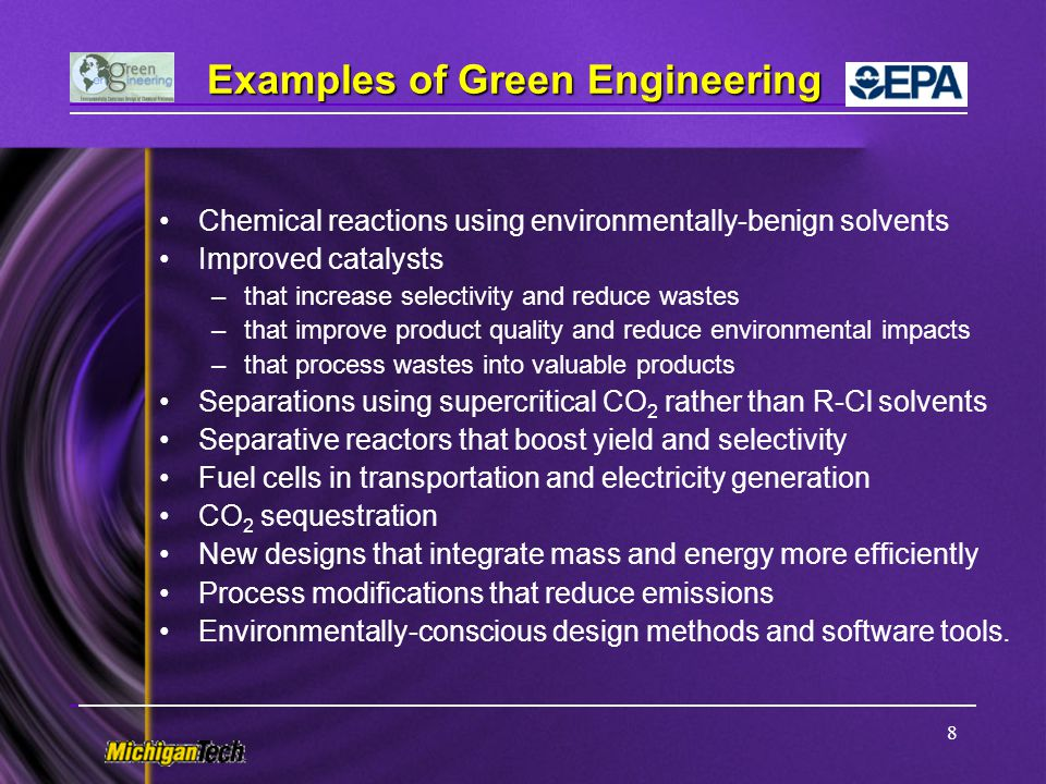 19 Presentation Outline Introduction to Green Engineering (GE) and Inherent Safety (IS) –GE definition, concepts, principles, and tools –IS concepts and tools –Similarities and differences between GE and IS Environmentally-Conscious Process Design Methodology –A hierarchical approach with three tiers of impact assessment –A case study for maleic anhydride (MA) process design –Early design methods and software tools –Flowsheet synthesis, assessment, and software tools –Flowsheet optimization - comparison of process improvement –Summary of environmentally-conscious design (ECD) methods
