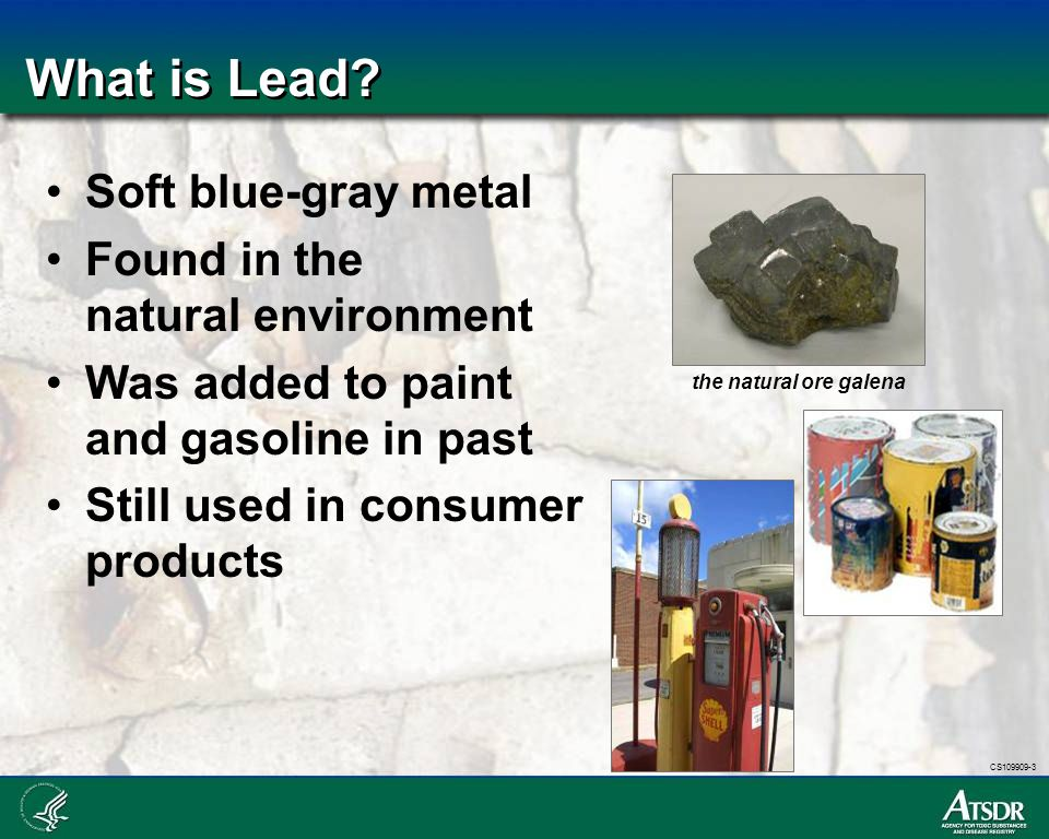 CS109909-3 How Does Lead Get Into the Environment.