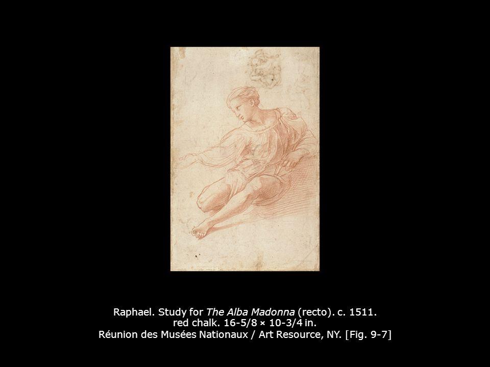 Raphael.Study for The Alba Madonna (verso). c. 1511.