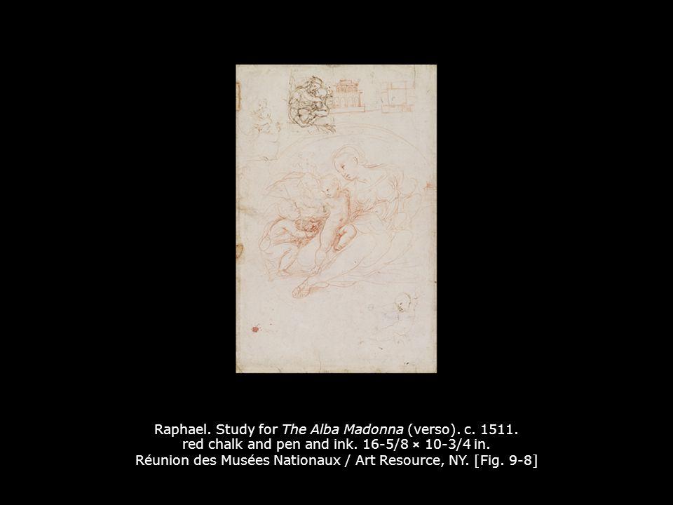 Raphael.The Alba Madonna. c. 1510. Oil on panel transferred to canvas.