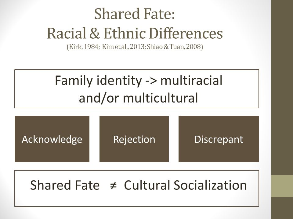Study Improvements Where's Shared Fate.Where's the Family.