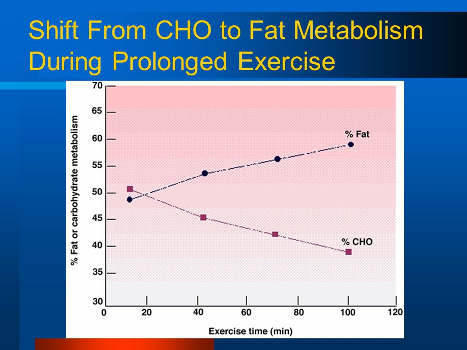 Shift From CHO to Fat Metabolism During Prolonged Exercise