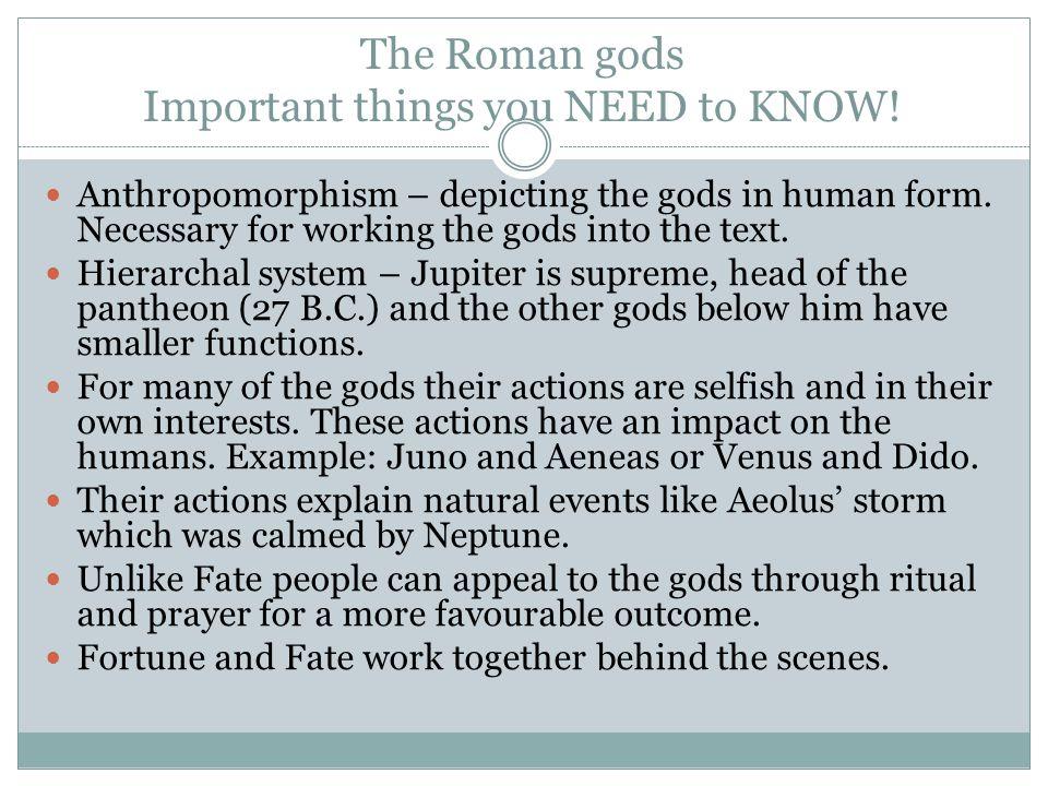 The Roman gods cont.
