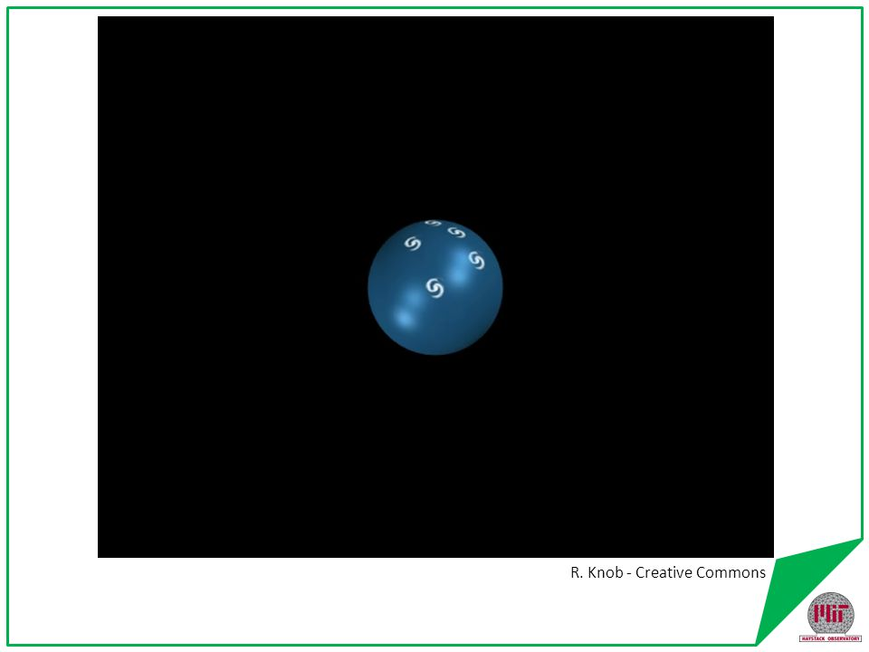 Conclusions from Hubble's Law The universe is expanding Space itself is expanding Galaxies are held together by gravity on small distance scales R.
